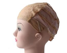 Peruca Tampas Para Fazer Perucas alças reguláveis voltar suíço rendas frente completa peruca cap peruca tecer extensão do cabelo net 3 cores de Fornecedores de tamanho grande das perucas