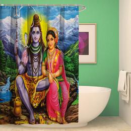 Rideau de douche bouddhiste peint à la main rideaux de salle de bains étanches de haute qualité polyester rideau de bain pour la décoration ? partir de fabricateur