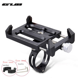 mobile phone motorcycle stand holder Promo Codes - GUB Adjustable Bike Bicycle Phone Holder Motorcycle Handlebar Clip Stand Mount Bracket for IPhone Smart Mobile Cellphone Black
