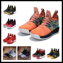 Canada Top qualité durcir VOL 2 nouvelle chaussure orange noir boost ventes pas cher livraison gratuite 2018 James Harden Basketball chaussures stocker taille US7-US11.5 Offre