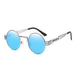 Wholesale Cheap Vintage Eyewear - Luxury Round Metal Sunglasses Steampunk Men Women Fashion Glasses Brand Designer Retro Vintage Sunglasses UV400 Unisex Cheap Eyewear