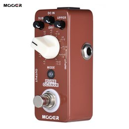 Wholesale Mooer Guitar Effects - MOOER PURE OCTAVE Mini Octave Guitar Effect Pedal 11 Octave Modes True Bypass Full Metal Shell