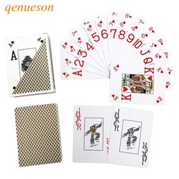 Wholesale Paper Gold Stars - Baccarat Texas Hold'em poker cards Royal Poker Gold&Silver Waterproof Frosting poker star Plastic playing cards game Board games