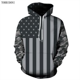 Wholesale Tracksuits Men Usa - Hoodies Brand Men USA Flage Printed Sweatshirt Male Tracksuit Hoody Hip Hop Moletom Autumn Spring Hoodie Mens Pullover EUR Size