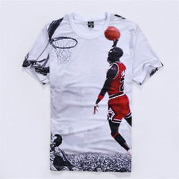 2019 Summer Wear Tide camiseta para hombre Venta caliente Tops deportivos Manga corta Camiseta de moda Impreso en 3D Michael 23 camiseta para hombre talla M-2XL desde fabricantes