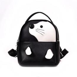 Морские собаки онлайн-Женщины мультфильм милый Морская собака печатных рюкзак девушки искусственная кожа прекрасный мешок школы женская мода небольшой путешествия рюкзак сумка Q-89