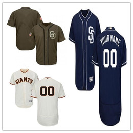 Wholesale giant girls - custom Men's women youth Majestic SF Giants Jersey #00 Any Your name and your number Home Orange Grey White Kids Girls Baseball Jerseys