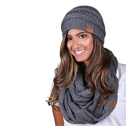 78043bb4f500e0 Winter Hat & Scarf Set For Women Girls Warm Beanies Ring Scarf Pompoms Winter  Hats Knitted Caps And 2 Pieces Set