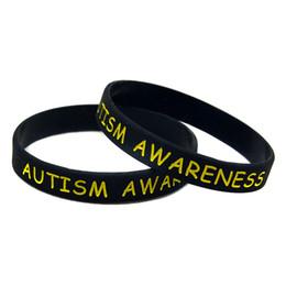 Canada Gros 100PCS / Lot bracelet en silicone de sensibilisation à l'autisme idéal pour rappel quotidien en portant ce bracelet coloré cheap autism awareness bracelets wholesale Offre