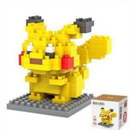 Giocattolo della nave di mattoni online-LOZ Figure Modello Giocattoli Pikachu Charmander Bulbasaur Squirtle Mewtwochild Eevee regalo Anime Building Bricks Blocks spedizione gratuita