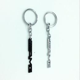 Emblèmes de benz en Ligne-Porte-clés accessoires auto style de voiture porte-clés porte-clés AMG badge emblèmes de voiture pour Mercedes Benz A45 SLS AMG E63 nouveau