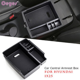 Wholesale Suitcase Abs - Automobile central armrest box For Hyundai IX25 Creta suitcase storage holder tray container box clapboard auto accessories car styling