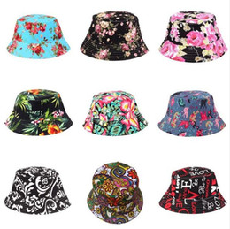 d2326f3e6a8 Women Floral Bucket Hats 27 styles Outdoor Women Sun Hats Fisherman Hats  Floral Women Beach Caps Girls Camping Cap Travel Outdoor z98 100