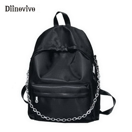 grandi zaini coreani Sconti DIINOVIVO Fashion Women Backpack Chain School Bag Female Oxford Big Korean Backpacfor Teen Girl Sac A Main WHDV0663