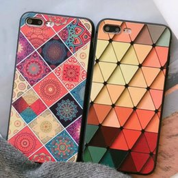 Wholesale Diamond Flower Phone Cases - Diamond Flower Pattern TPU Phone Case Anti Drop Protection Cover for iPhone 6 7 8 X 6s 7s 8s Plus