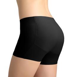 612541ed31c Women Abundant Buttocks Hip Pad Thickening Waist Boxer Briefs Ladies  Underwear Padded Panties
