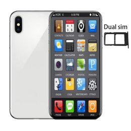 tarjetas de video tv Rebajas Teléfono Andriod de 6.5 pulgadas xs máx. 1GBRAM 4GBROM MTK6580 QuadCore 5MP 3G WCDMA Caja sellada Fake 4G desplegado Dual SIM Card goophone
