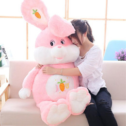 Wholesale Huge Stuffed Animal Pillows - Huge Soft Cartoon Rabbit Plush Doll Stuffed Giant Anime Pink Bunny Toy Animal Pillow Baby Gift 3 Sizes