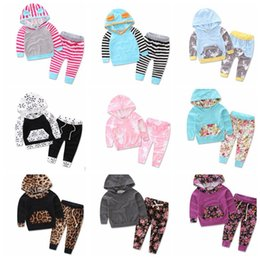 Wholesale Top Brands Kids Clothing Wholesale - Baby Clothes Kids Outfits Baby Clothes Hoodies Pants Ins Long Sleeve Kids Deer Clothing set Tops Pants 2Pcs Outfits Set KKA3660