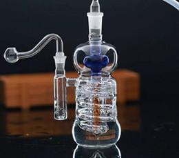 caja de humo al por mayor Rebajas En 2018, la nueva pipa de tabaco de vidrio grueso se filtrará y se filtrará por bong.