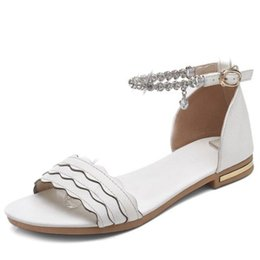 Wholesale Beading Materials - Smilice 2018 Woman Flats with Soft Leather Material Comfortable Sandals Elegant Casual Style Dressy Shoes with Large Size Available A478
