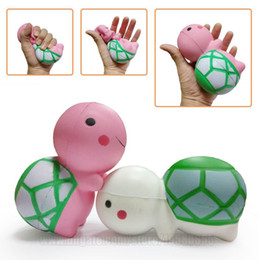 Wholesale Turtles Charms - Kawaii Squishy Tortoise New Squishies Animal Large Cute Turtle Slow Rising Toys Scented Simulation DHL Free Shipping SQU035