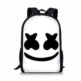 2019 schultaschen für jungen Buch Tasche Marshmello Schultaschen Jungen Mädchen Rucksäcke Schulbedarf Schulranzen Mädchen Kinder Helm Junior Bag günstig schultaschen für jungen
