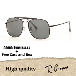 Wholesale Free Mirrors - 5A+ Top quality Glass lens Brand Designer Classic sunglasses men women metal frame Sport Vintage sun glasses With free cases and box