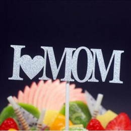 2019 cupcakes do dia de pais 10 Pçs / lote Novo Eu Amo Mamãe Pai Queque Bolo Toppers Bolo Bandeiras Dia dos Pais Dia das Mães Agradecimento Decorações Do Partido cupcakes do dia de pais barato