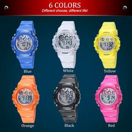 OHSEN бренд цифровой кварцевые дети спортивные часы детские рождественские подарки 50 м водонепроницаемый резиновый ремешок мода светодиодные наручные часы от