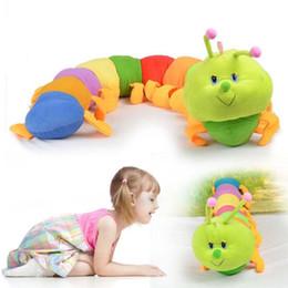2019 brinquedos macios da lagarta 5 PCS Casa Bonito Da Criança Do Bebê 50 CM Colorido Inchworm Lagarta Macia Adorável Brinquedo Developmental Boneca brinquedos macios da lagarta barato