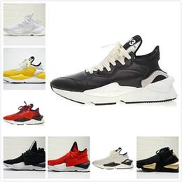 finest selection c6dd2 832b3 2018 di alta qualità Y-3 Kaiwa Chunky uomini donne scarpe casual moda  lussuosa giallo nero rosso bianco y3 stivali sneakers 38-44