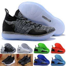 cheaper e4e1d 8447d 11 Basketball Shoes New Arrival KD Black Grey Persian Violet Chlorine Blue  Sneakers Kevin Durant 11s Mens Trainers Shoes