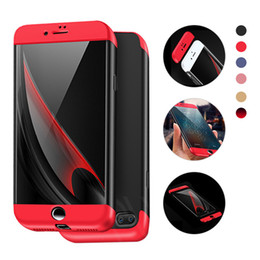 Wholesale Iphone Covers Sale - Full Body Protective Case Cover For iphone X 6 6S 7 8 Plus 360° Fully Coverage 3 In 1 Case For Samsung Galaxy S8 Plus Note 8 2018 Hot Sale