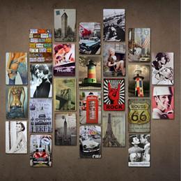 Vintage Métal En Plaques En Métal Pour La Décoration Murale Route 66 Voitures Sexy Filles Fer Peintures Signes En Métal Tôle Plaque Pub Bar Garage Décoration de La Maison ? partir de fabricateur