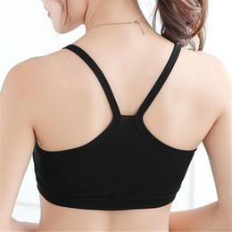 8d6d37114 2019 mulher vestindo roupas íntimas Feminino Sólida Cinta Underwear Algodão  Yoga Bra Colete Top Colheita Sutiãs
