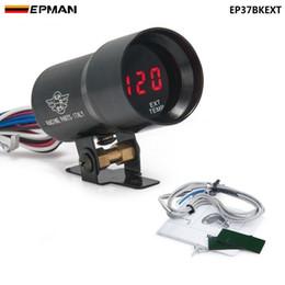 Canada EPMAN-37mm Jauge de température des gaz d'échappement des fumées EGT rouge Jauge de jauge des lampes à décalage numérique rouge LED noire EP37BKEXT Offre