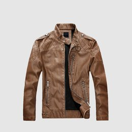 6744ee81 Mens Leather Jackets Fashion Motorcycle Style Male Business Casual Coats  Western Cowboy Men Faux Jacket Plus Velvet