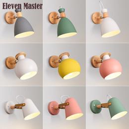 Canada Applique murale Macaron personnalité créatrice moderne minimaliste applique murale nordique salon chambre chambre enfant WWL013 cheap children wall lamps Offre
