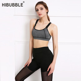 ae66f37da1ab9 HIBUBBLE Women Yoga Bra Sports Top for Running Gym Fitness Yoga Shirt Padded  Push Up Bras Tank Tops For Girls ropa deportiva