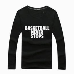 Маленькие крючки онлайн-Лето осень мужчины с длинным рукавом футболка маленький крюк баскетбол никогда не останавливается маленький ТИК Марка мужчины футболка тонкий дышащий футболка кофты