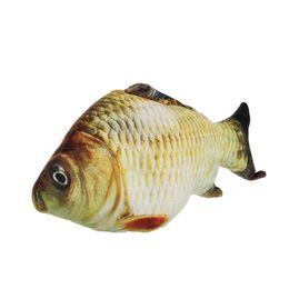 Wholesale 3d Teddy - 3D Carp Fish Cushion Pillow Animal Plush Toy Children Gift Home Decor 20cm 7in W15