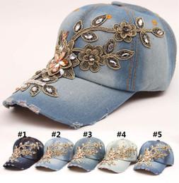 Fatto a mano lavato vecchio berretto da baseball da cowboy Moda femminile  svago snapback cappello accessori Punk Moda gorras Denim hip hop cap CM539 cf99c3c0a97a