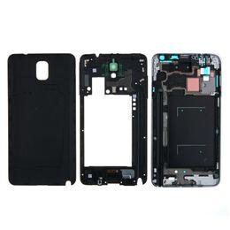 Wholesale Oem Repair - OEM Phone Full Housing Bezel Cover Case shell for Samsung Galaxy Note 3 N900 N9005 Repair Parts free DHL