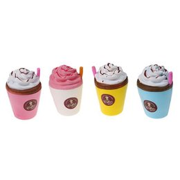 Wholesale squeeze cup - Kawaii Straw Cup Squishy Jumbo Soft Slow Rising Squishies Phone Charms Coffee Mold Squeeze Stress Relief Toy 6 8jq Y