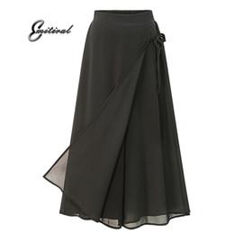 72e4d59dba5e 2018 New Summer European Style Plus Size 5XL Women Trousers Casual Loose  Chiffon Calf- Length Pants Black Wide Leg Ladies Pant S914
