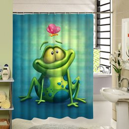 Aquarelle Mignon Alpaca Rideau de douche Liner Tissu Imperméable Set salle de bain Crochets