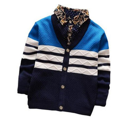 Wholesale wholesale childrens sweatshirts - Cola baby boy sweater spring autumn clothes toddler boys cardigan outwear coat childrens jumpers sweatshirts