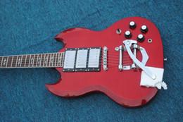style de couleur de guitare Promotion Livraison gratuite 2018 New Electric Guitar Classic couleur rouge 2 pickup ont plus de style Meilleur prix Top guitra guitarra