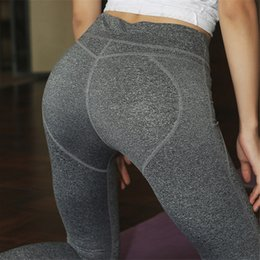 Wholesale Girls Sexy Hips - Yoga Gym Pants Women Sexy Fitness Peach Hip Push Up Leggings Sports Running Jogger Tights Girls Slim Pants Gym Clothing Sports Wear